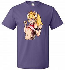 Buy Bowsette Unisex T-Shirt Pop Culture Graphic Tee (5XL/Purple) Humor Funny Nerdy Geeky