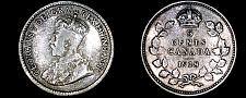 Buy 1918 Canada 5 Cent World Silver Coin - Canada - George V - Lot#9924