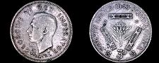 Buy 1943 South African 3 Pence World Silver Coin - South Africa - George VI
