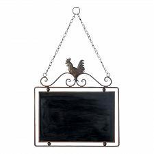 Buy *18050U - Rooster Iron Frame Chalkboard Wall Art Decor