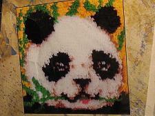 Buy Latch Hook Kit Panda Vintage Sealed 12 in x 12 in Buttoncraft VTG