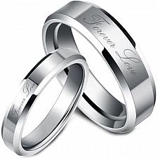 Buy coi Jewelry Tungsten Carbide Forever Love Wedding Band Ring