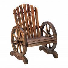 Buy *15792U - Wagon Wheel Fir Wood Adirondack Chair Outdoor Furniture