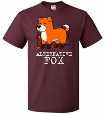 Buy Alternative Fox Unisex T-Shirt Pop Culture Graphic Tee (6XL/Maroon) Humor Funny Nerdy