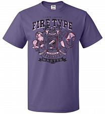 Buy Fire Type Champ Pokemon Unisex T-Shirt Pop Culture Graphic Tee (3XL/Purple) Humor Fun