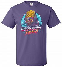 Buy Oh Yeah! Unisex T-Shirt Pop Culture Graphic Tee (5XL/Purple) Humor Funny Nerdy Geeky