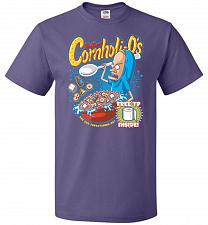 Buy Cornholios Unisex T-Shirt Pop Culture Graphic Tee (5XL/Purple) Humor Funny Nerdy Geek