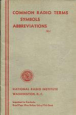 Buy 1941 Radio Institute Washington Radio Terms Symbols Abbreviations VTG