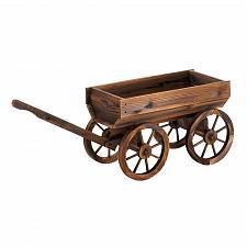 Buy *18432U - Fir Wood Wine Barrel Wagon
