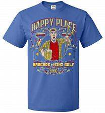 Buy Gilmore's Happy Place Adult Unisex T-Shirt Pop Culture Graphic Tee (3XL/Royal) Humor