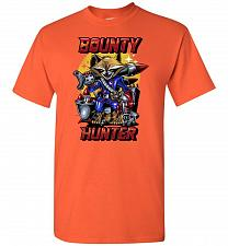 Buy Bounty Hunter Rocket Raccoon Unisex T-Shirt Pop Culture Graphic Tee (S/Orange) Humor