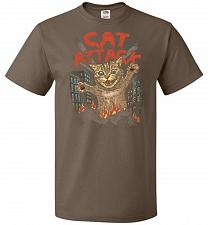 Buy Cat Attack Unisex T-Shirt Pop Culture Graphic Tee (M/Chocolate) Humor Funny Nerdy Gee