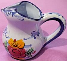 Buy Vestal Hand Painted Glazed Ceramic Creamer/Pitcher Made in Portugal 5 In Tall