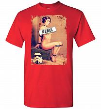 Buy Princess Leia Rebel Unisex T-Shirt Pop Culture Graphic Tee (4XL/Red) Humor Funny Nerd