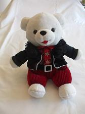 Buy 9 Inches Snowflake White Teddy Bear Black Coat, Red Shirt Red Pants 2013