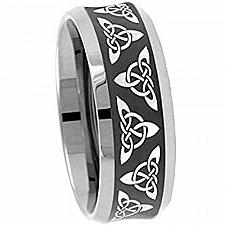 Buy coi Jewelry Tungsten Carbide Trinity Knot Wedding Band Ring