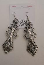 Buy Unisex Sword Earrings Silver Tones Rhinestones HER GO COLLECTION Hook