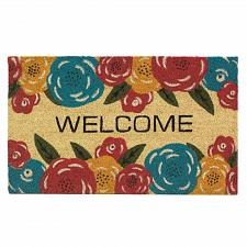 Buy *18140U - Floral Welcome Mat