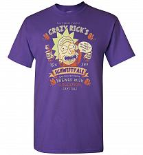 Buy Crazy Rick's Schwifty Ale Unisex T-Shirt Pop Culture Graphic Tee (S/Purple) Humor Fun