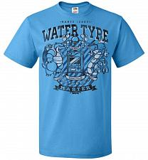 Buy Water Type Champ Pokemon Unisex T-Shirt Pop Culture Graphic Tee (2XL/Pacific Blue) Hu