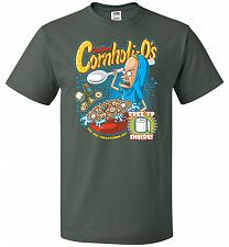 Buy Cornholios Unisex T-Shirt Pop Culture Graphic Tee (4XL/Forest Green) Humor Funny Nerd