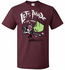 Buy Zim Pilgrim Unisex T-Shirt Pop Culture Graphic Tee (XL/Maroon) Humor Funny Nerdy Geek