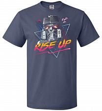Buy Rise Up Unisex T-Shirt Pop Culture Graphic Tee (5XL/Denim) Humor Funny Nerdy Geeky Sh