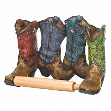 Buy *16206U - Cowboy Boots Toilet Paper Roll Holder Wall Mount
