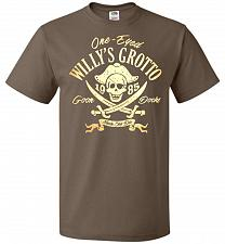 Buy Goonies One-Eye Willy's Grotto Adult Unisex T-Shirt Pop Culture Graphic Tee (L/Chocol