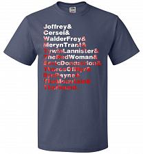 Buy Game Of Thrones Inspired Arya's List Adult Unisex T-Shirt Pop Culture Graphic Tee (5X