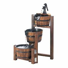 Buy *17256U - Apple Barrel Cascading Fir Wood Outdoor Water Fountain