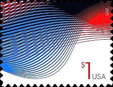 Buy 2015 $1 Patriotic Wave, Billowing Flags Scott 4953 Mint F/VF NH