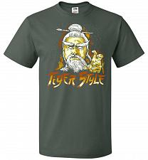 Buy Tiger Style Unisex T-Shirt Pop Culture Graphic Tee (3XL/Forest Green) Humor Funny Ner