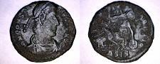 Buy 337-361AD Roman Imperial Constantius II AE Follis - Soldier Spearing Horseman