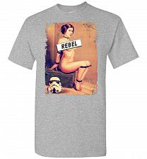Buy Princess Leia Rebel Unisex T-Shirt Pop Culture Graphic Tee (2XL/Sports Grey) Humor Fu