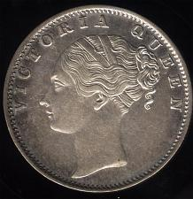 Buy British East India Co Victoria 1840 single legend 35 berry no mintmark Rupee