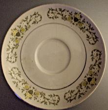Buy Sterling Fine China White Saucer Only Florentine Pattern EUC