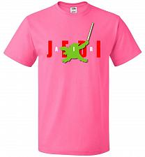 Buy Air Jedi Unisex T-Shirt Pop Culture Graphic Tee (M/Neon Pink) Humor Funny Nerdy Geeky