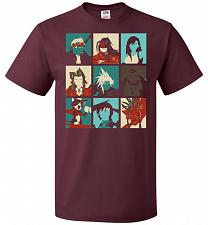 Buy Final Pop Unisex T-Shirt Pop Culture Graphic Tee (4XL/Maroon) Humor Funny Nerdy Geeky