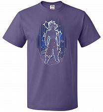 Buy Shadow Of The Ultra Instinct Unisex T-Shirt Pop Culture Graphic Tee (4XL/Purple) Humo