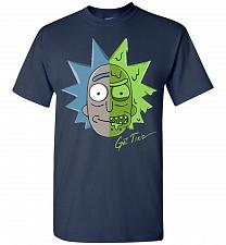Buy Get Toxic Rick and Morty Unisex T-Shirt Pop Culture Graphic Tee (S/Navy) Humor Funny