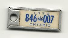 Buy 1970 License Plate War Amps Key Tag Ontario 846 007 Key Fob Vintage