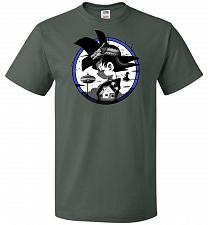 Buy Saiyan Quest Unisex T-Shirt Pop Culture Graphic Tee (XL/Forest Green) Humor Funny Ner