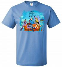 Buy Super Friends Unisex T-Shirt Pop Culture Graphic Tee (L/Columbia Blue) Humor Funny Ne