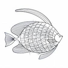 Buy *17852U - Intricate Fish Black Metal Sculpture Wall Art Décor