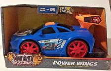 Buy Toy Car Mad Machines Power Wings Sounds Motorized Vehicle Blue Turbo New