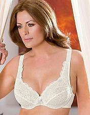 Buy Elila Satin & Microfiber Underwire Bra #2307 in Cream Size 44E/DD NEW!!