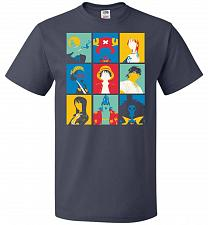 Buy Popiece Art Unisex T-Shirt Pop Culture Graphic Tee (L/J Navy) Humor Funny Nerdy Geeky