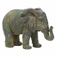 Buy *17916U - Weathered Gray Iron Elephant Statue Figurine