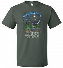 Buy Alien Wars Unisex T-Shirt Pop Culture Graphic Tee (3XL/Forest Green) Humor Funny Nerd